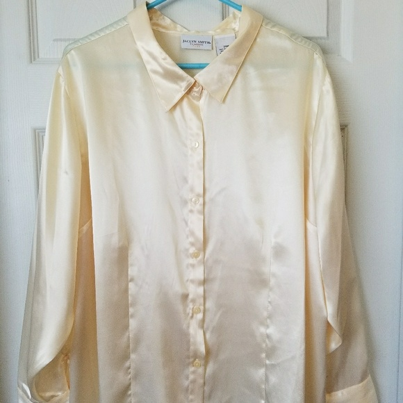 Jacqueline Smith Tops Womens Plus Size Dressy Blouse 3x Buttom Up